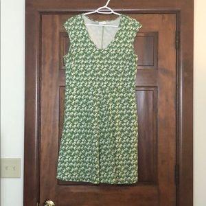 Green dress, white elephants